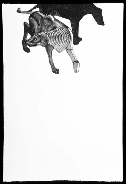 Mechanized Canines (2002) - etching, aquatint, shaped plate