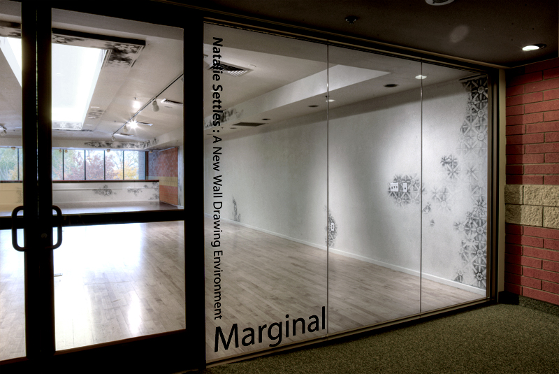Marginal (2011) - front right view through glass